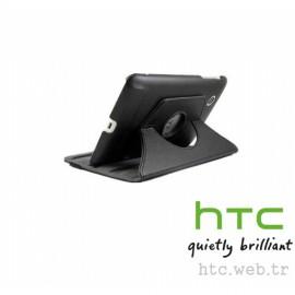 HTC Flayer Dönerli Deri Kılıf