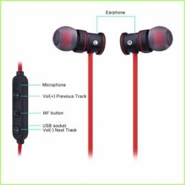 IPUDIS Mıknatıs Metal Spor Bluetooth Kulaklık Kablosuz